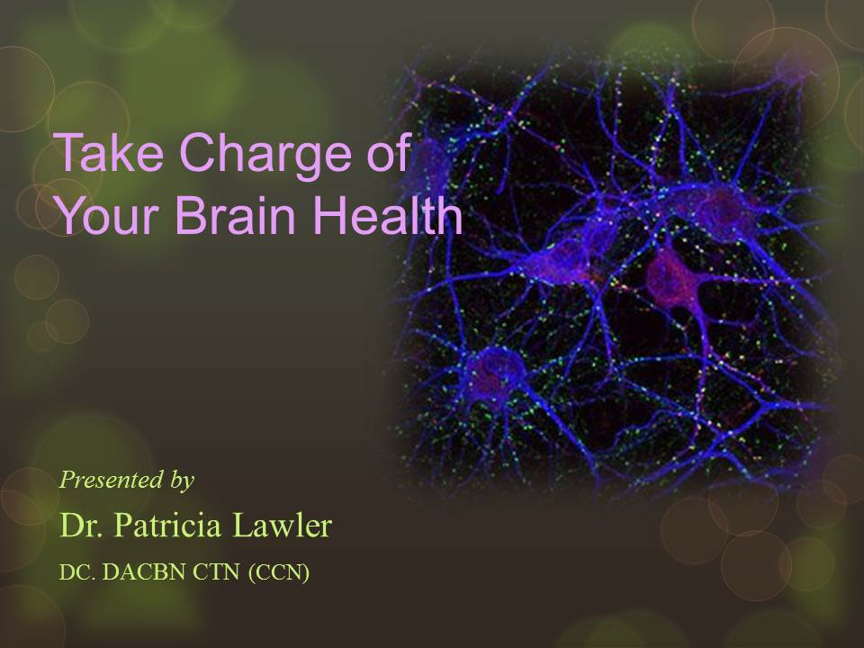 Take Charge of Your Brain Health | slide presentation